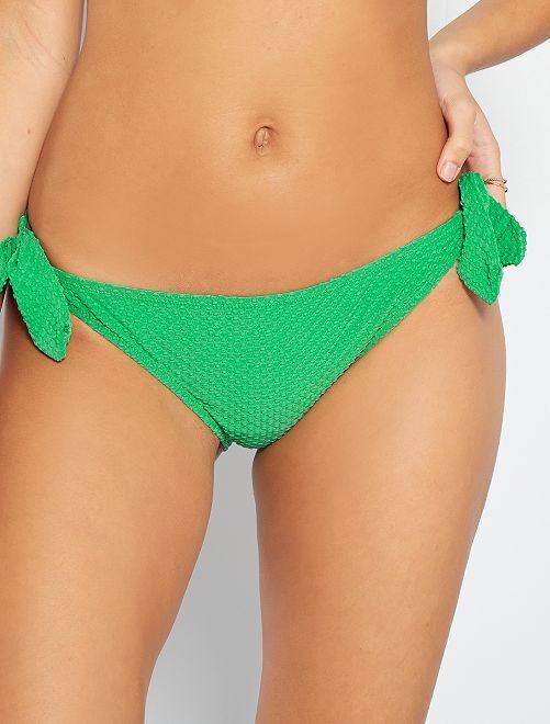 Braguita de bikini anudada                                         verde