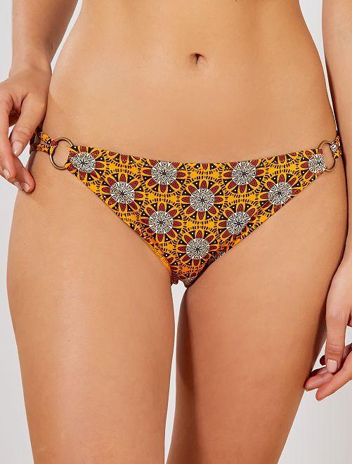Braguita de bikini con anillas laterales                                         NARANJA