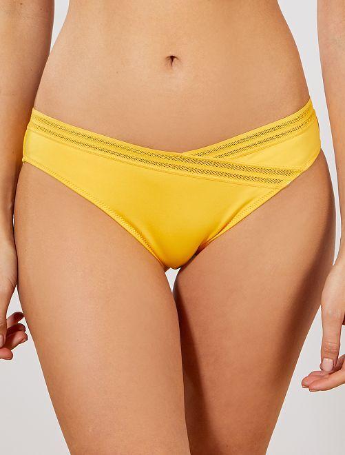 Braguita de bikini con detalles calados                                         amarillo Mujer talla 34 a 48