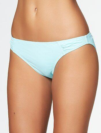 Braguita de bikini con frunces delanteros                                                         turquesa claro Mujer