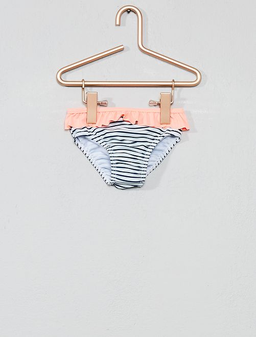 Braguita de bikini con volantes                                         ROSA Bebé niña