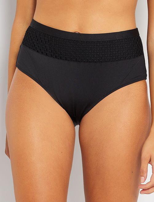 Braguita de bikini culotte                             negro