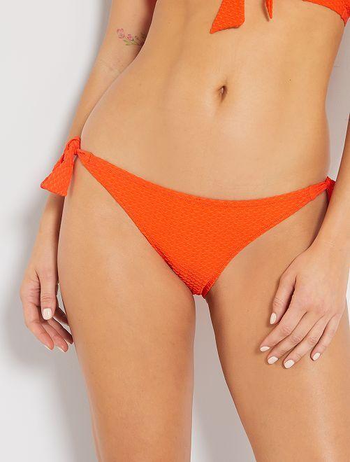Braguita de bikini jacquard                             NARANJA