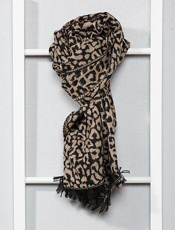 Bufanda con motivo de leopardo - Kiabi