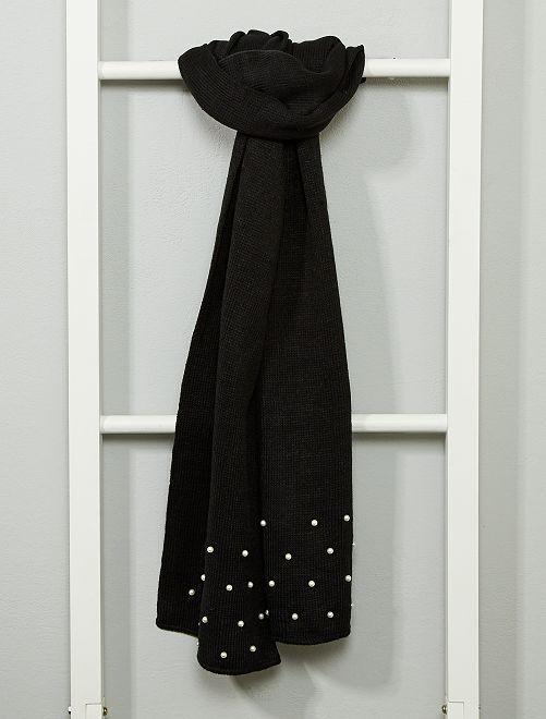 Bufanda con perlas                                 NEGRO