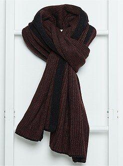 Echarpe, bufandas, pañuelos - Bufanda de punto jaspeado