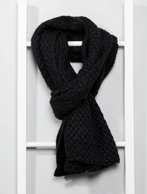 Bufanda de punto                             negro Mujer talla 34 a 48