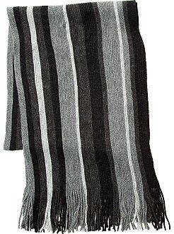 Hombre Bufanda de rayas con flecos