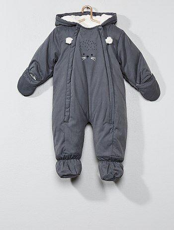 Buzo para bebé de animal con forro de tejido polar - Kiabi
