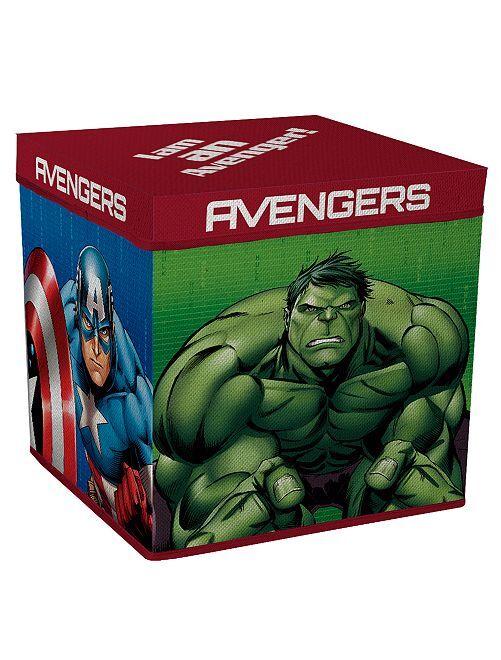 Caja de almacenaje con tapa 'Los Vengadores'                             azul/rojo
