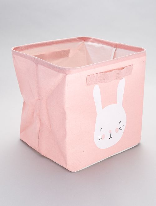 Caja de almacenaje estampada 'conejos'                             conejo
