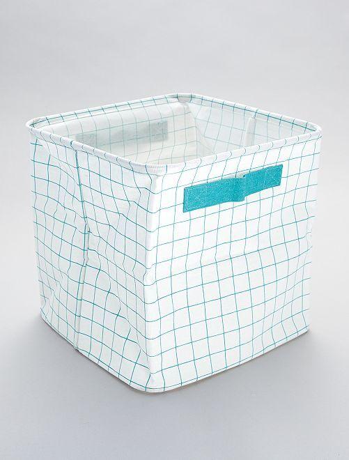 Caja de almacenaje estampada 'cuadros'                             cuadros