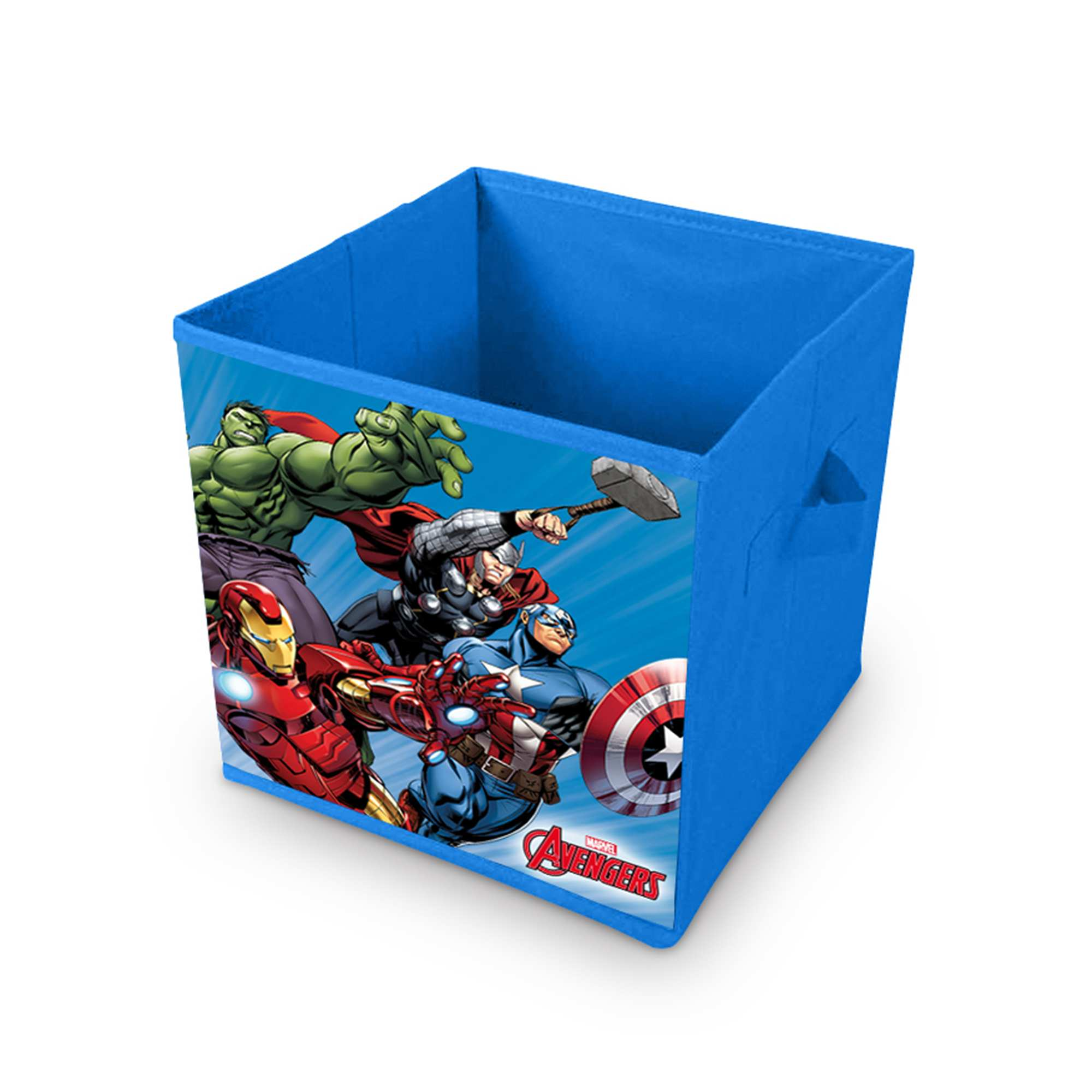 Caja de almacenaje 39 los vengadores 39 hogar azul kiabi - Caja de almacenaje ...