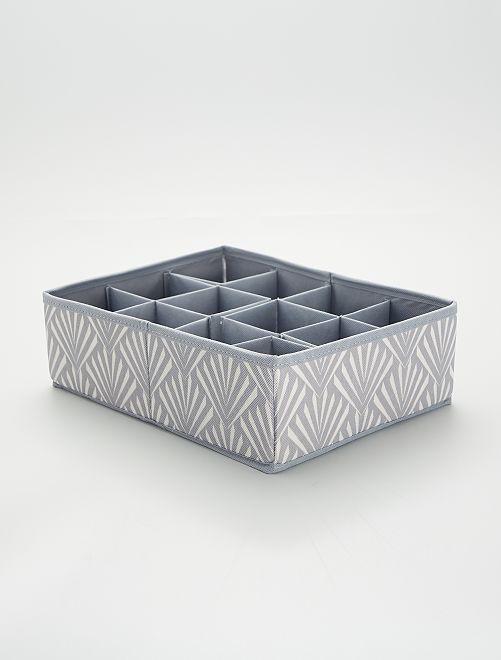 Caja de ordenación de tela                                         blanco/gris