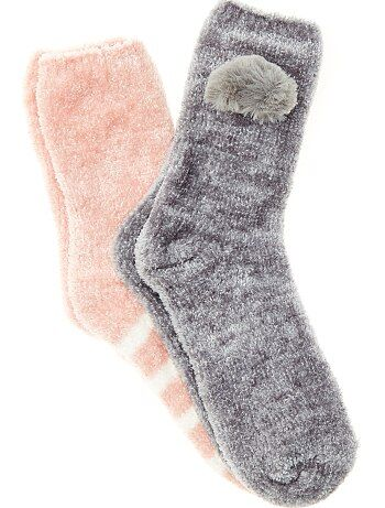 Calcetines de fantasía de tejido polar - Kiabi