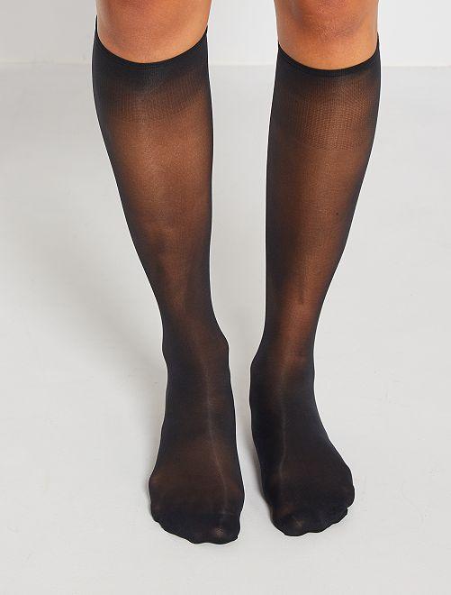 Calcetines de gasa 'DIM'                             negro