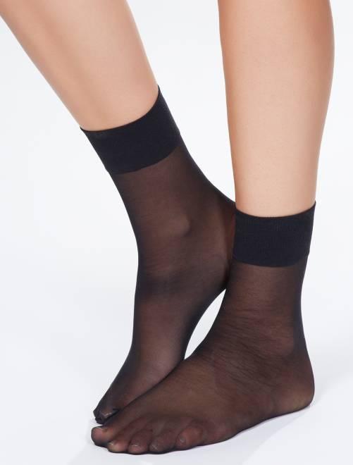 Calcetines de gasa 'Sanpellegrino' Dream 20D                                         negro Lencería de la s a la xxl