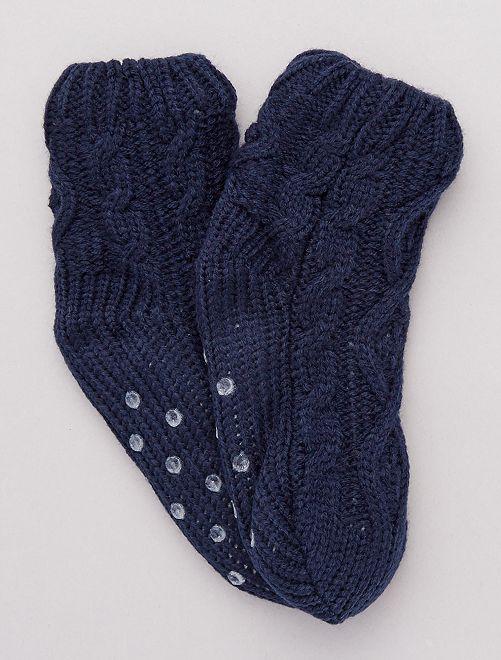 Calcetines forrados                             azul