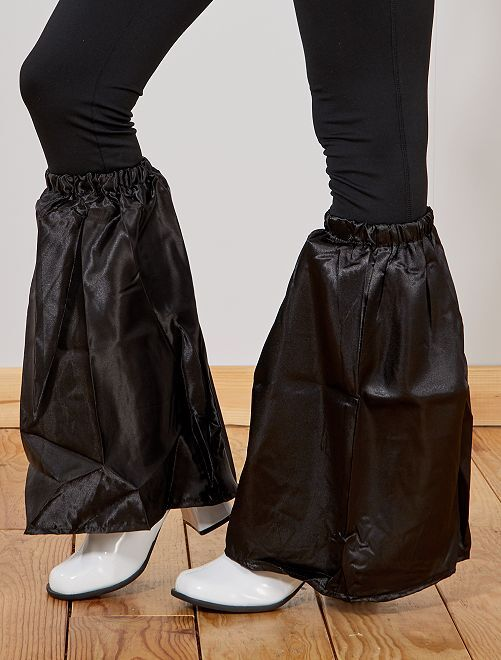 Calentadores satinados de pata de elefante                                                     negro Mujer