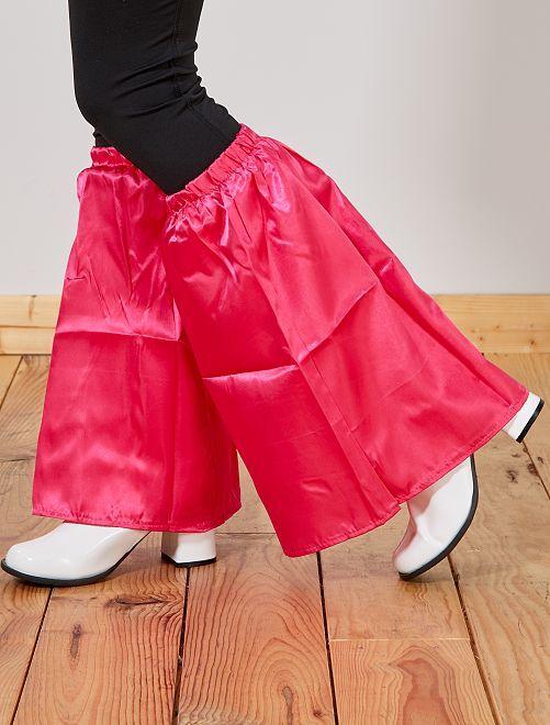 Calentadores satinados de pata de elefante                                                     rosa Mujer