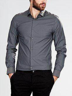 Camisa ajustada de algodón