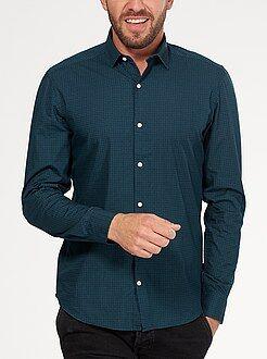 Camisas ciudad - Camisa ajustada de popelina