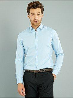 Camisa ajustada de popelina