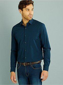 Hombre - Camisa ajustada de popelina - Kiabi