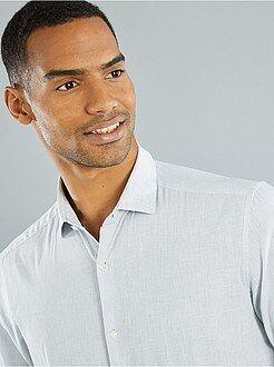 Hombre Camisa ajustada de popelina