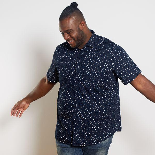 Camisa Tallas Grandes Hombre Azul Kiabi 15 00