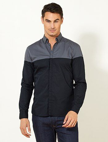 Hombre talla S-XXL - Camisa bicolor ajustada - Kiabi