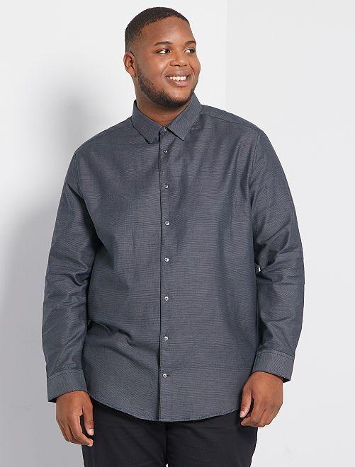 Camisa bicolor                                         GRIS