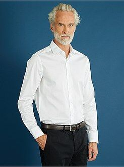 Hombre Camisa blanca ajustada