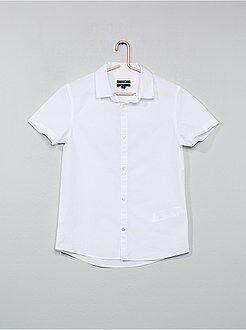 Camisas - Camisa blanca de popelina - Kiabi