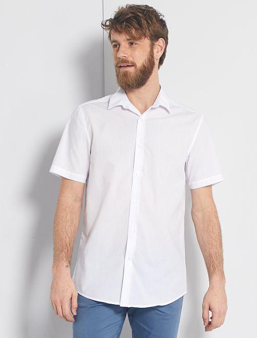 Camisa blanca manga corta                             blanco