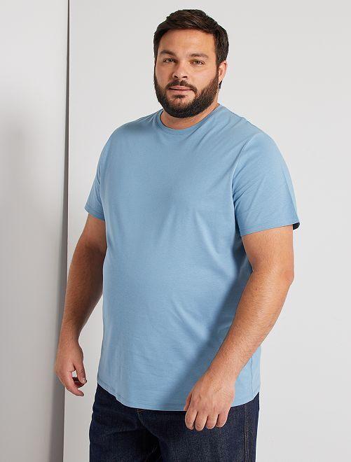 Camisa cómoda de punto                                                                                                                                                     azul gris