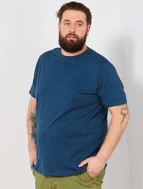 Camisa cómoda de punto                                                                                                                                                                             AZUL Tallas grandes hombre