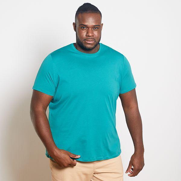 Camisa Comoda De Punto Tallas Grandes Hombre Azul Kiabi 5 00