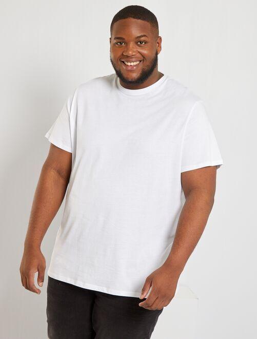 Camisa cómoda de punto blanco Tallas grandes hombre