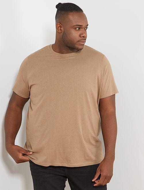 Camisa cómoda de punto                                                                                                                                                                 gris beige