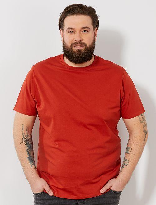Camisa cómoda de punto                                                                                                                                                                                                     naranja Tallas grandes hombre