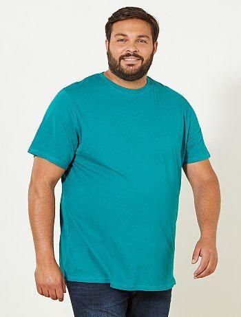 Tallas grandes hombre - Camisa cómoda de punto - Kiabi