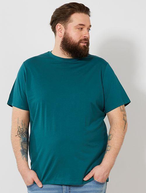 Camisa cómoda de punto                                                                                                                                                                             verde Tallas grandes hombre