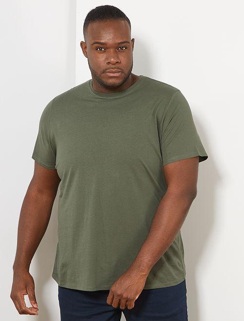 Camisa cómoda de punto                                                                                                                                                     verde tomillo