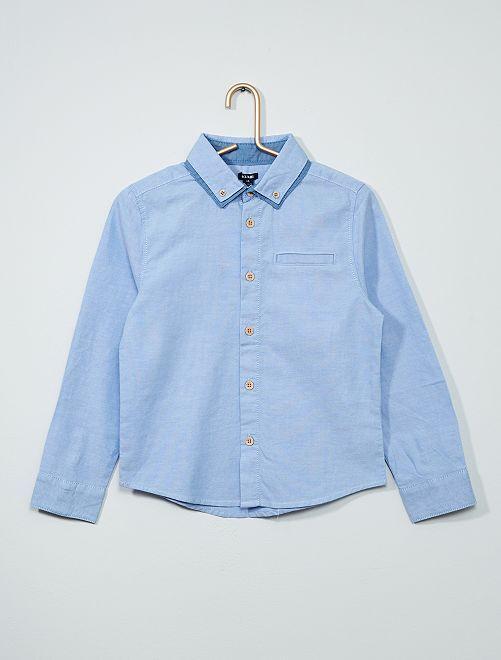Camisa con cuello doble                                         azul