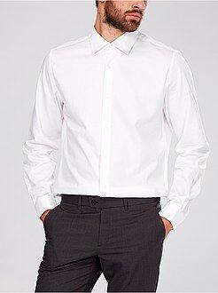 Camisa con cuello italiano