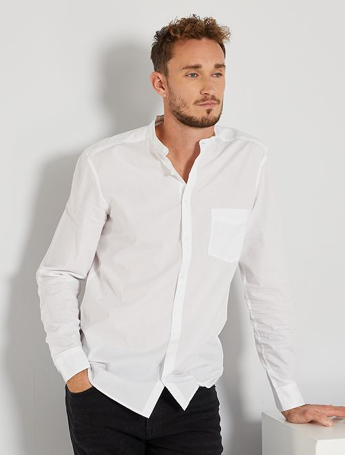 Camisa con cuello mao +1,90 m                             blanco