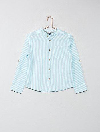 Niño 3-12 años - Camisa con cuello mao - Kiabi 9eb6addafc23