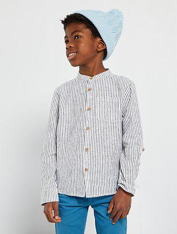 4b6219bc70a3f Niño 3-12 años - Camisa con cuello mao - Kiabi