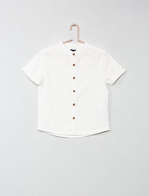 Camisa con cuello mao                                             blanco nieve Chico